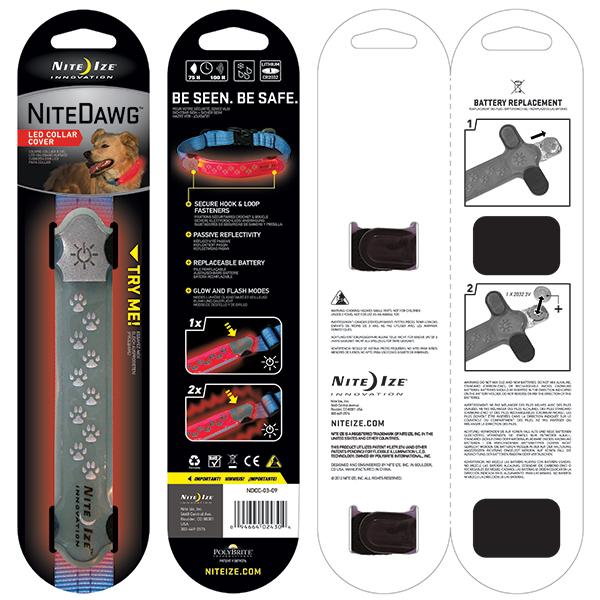 Nite Ize Nite Dawg LED Collar Cover, Grey Sale $14.99 SKU: 15115082 ID# NDCC-03-09 UPC# 94664024304 :