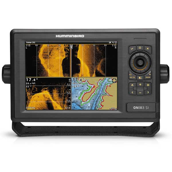 Humminbird onix8ci si combo fishfinder gps with side for Side imaging fish finder