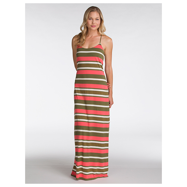 Women's Earn Your Stripes Maxi, Coral, S