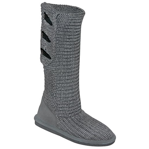 Bear Paw Tackle Women's Knit Tall Boots Gray