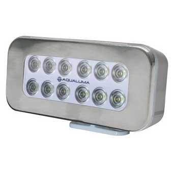 Aqualuma 12 LED Spreader Light, Bracket Mount, Silver
