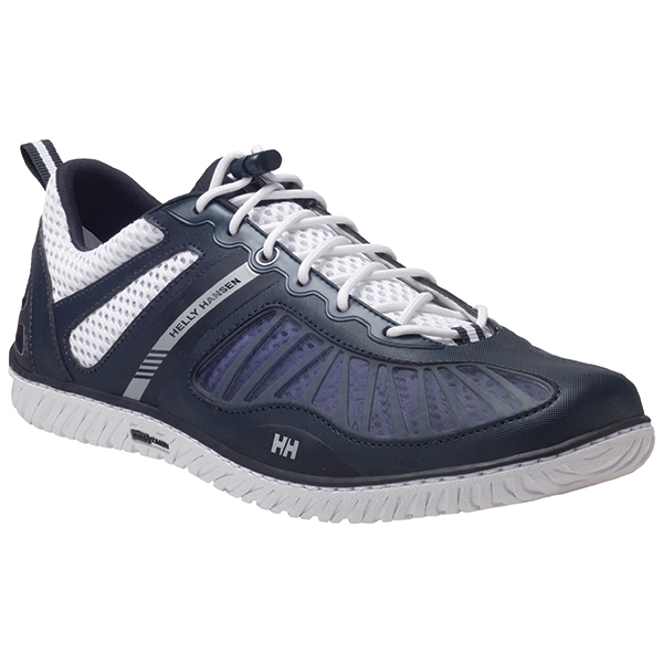 Men's Hydropower 4 Deck Shoes, Navy/White/Silver, 13