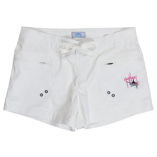 Guy Harvey Women's Short Shorts White