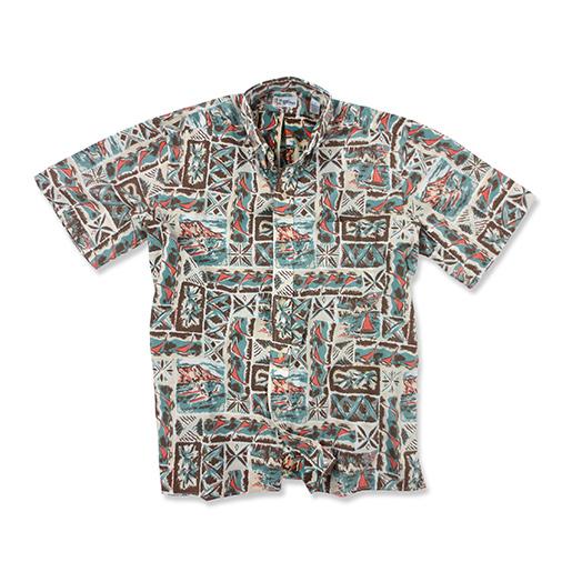 Reyn Spooner Men's Ocean Tapa Short-Sleeve Woven Shirt Tan Sale $17.44 SKU: 15184229 ID# 10012518643L :
