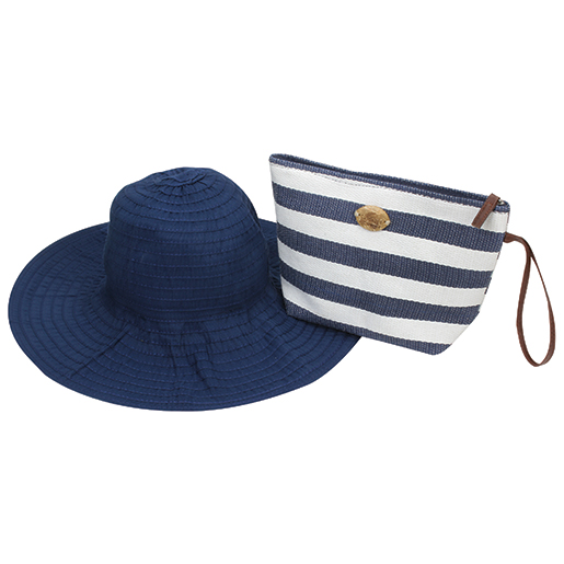 Dorfman Pacific Stripe Pack A Hat Navy