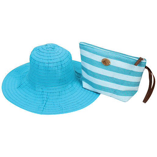 Dorfman Pacific Women's Pack-A-Hat Turquoise