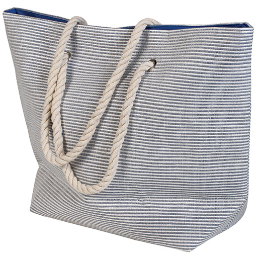Dorfman Pacific Lurex Stripe Tote Blue Sale $29.99 SKU: 15191729 ID# WMBAG871-RYL UPC# 16698167154 :