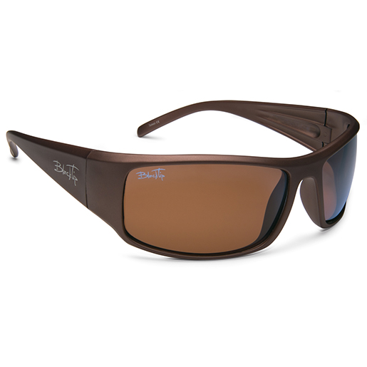 Blacktip Bobber Polarized Sunglasses, Brown Frames, Brown Lenses Brown