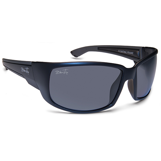 Blacktip HighFin Polarized Sunglasses, Matte Black/gray Frames, Gray Lenses