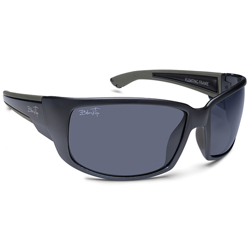 Blacktip HighFin Polarized Sunglasses, Gray Frames, Gray Lenses Gray