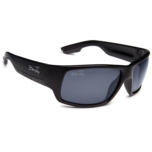 Blacktip Quillback Polarized Sunglasses, Black/gray Frames, Gray Lenses