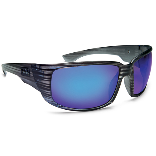 Blacktip Roughshark Polarized Sunglasses, Crystal Clear Frames, Gray with Clear/blue Mirror Lenses Sale $59.88 SKU: 15193444 ID# 801CYBM UPC# 45733018014 :