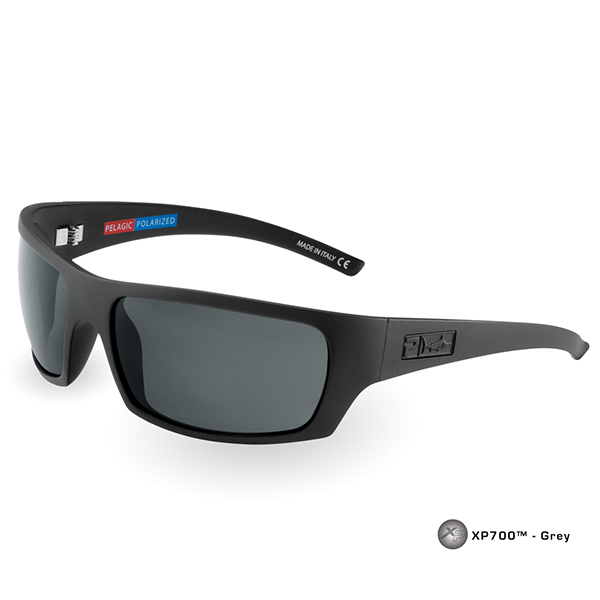Pelagic The Mack Sunglasses, Matte Black/gray Frames with Gray Polarized Lenses