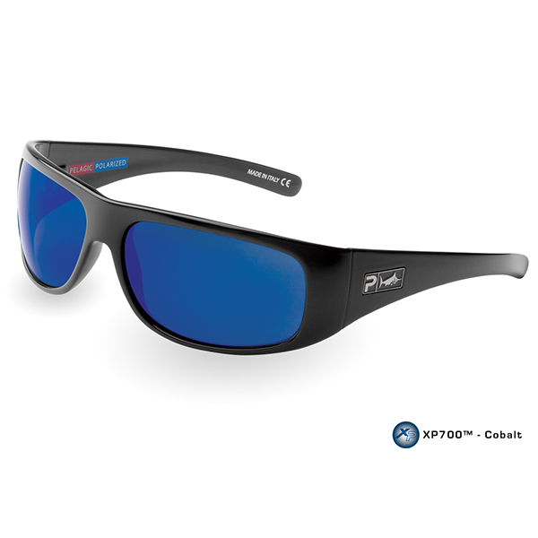 Pelagic Legend Sunglasses, Black/blue Frames with Cobalt Lenses