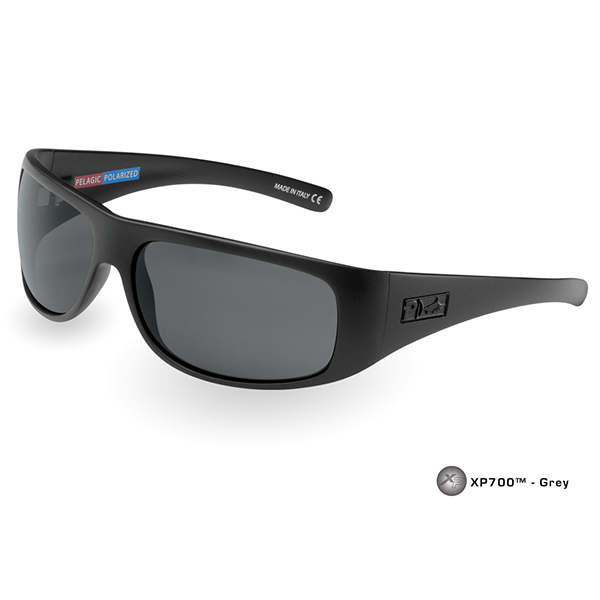 Pelagic Legend Sunglasses, Black/gray Frames with Gray Lenses