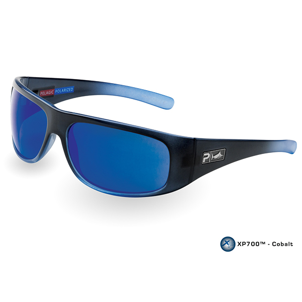 Pelagic Legend Sunglasses, Blue Fade Frames with Cobalt Lenses