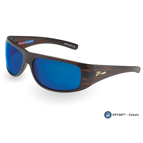 Pelagic Legend Sunglasses, Brown/blue