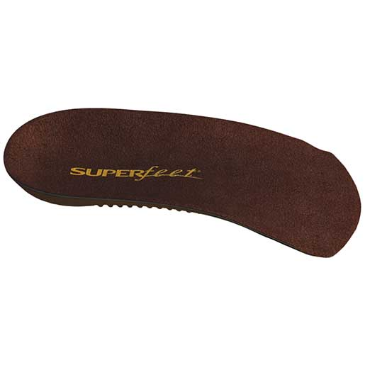 Superfeet Mens DELUX Dress-Fit 3/4 Insoles Black
