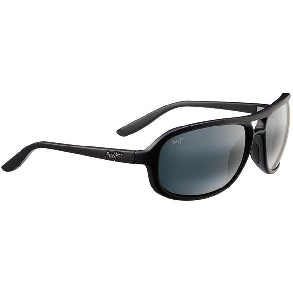 Maui Jim Breakers Sunglasses, Matte Black/gray Frames with Neutral Gray Lenses