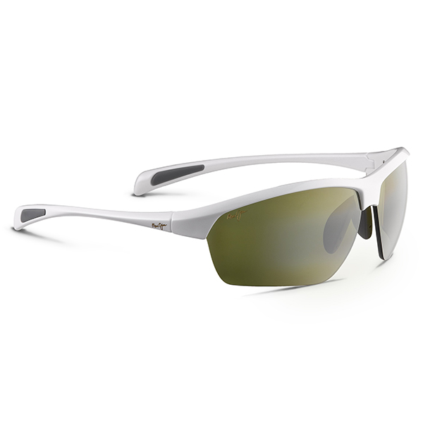 Maui Jim Stone Crushers Sunglasses, White Pearl Frames with Maui HT Lenses White