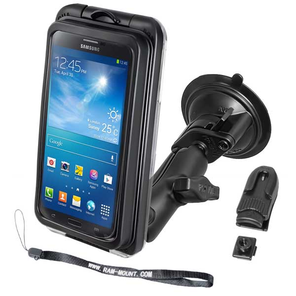 Ram Mounts RAM Twist Lock Suction Cup Mount with AQUA BOX Pro 20 Case for the iPhone 5, 4 & 3