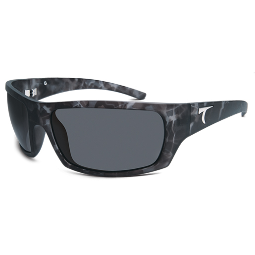 Typhoon Optics Cayucos Polarized Sunglasses, Matte Camo Frost Frames, Horizon Gray Lenses