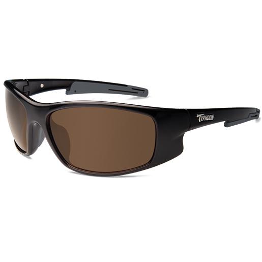 Typhoon Optics Tropic Storm Polarized Sunglasses, Shiny Black Frames, Sunset Brown Lenses Sale $64.99 SKU: 15219074 ID# 953TBKSB UPC# 45733029539 :