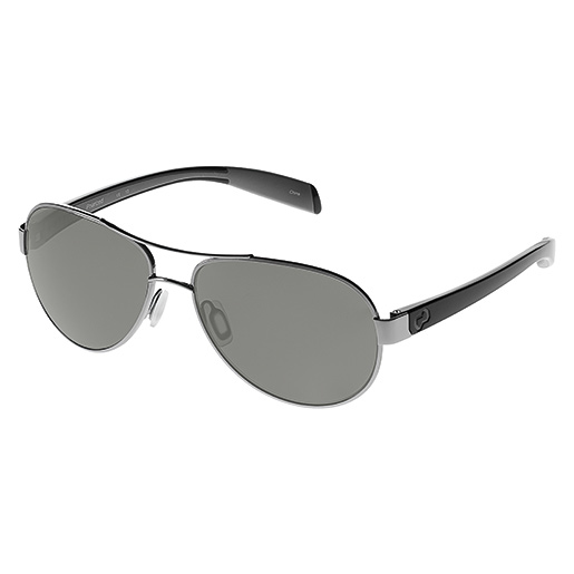 Native Eyewear Haskill Sunglasses, Iron Frames with Gray Polarized Lenses Gray