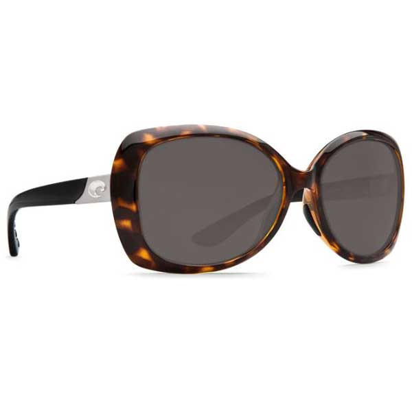 Costa Women's Sea Fan Sunglasses, Tortoise Frames with Tortoise/black 580P Lenses