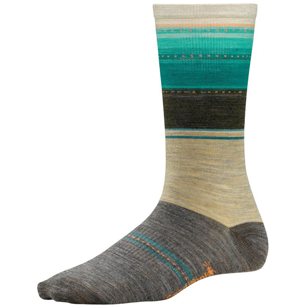 Women's Sulawesi Stripe Socks, Taupe, M