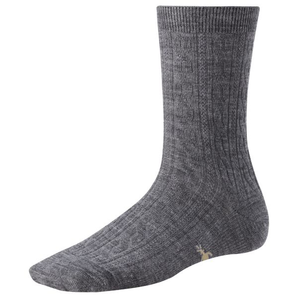 Smartwool Women's Cable Socks Gray Sale $10.17 SKU: 15235377 ID# SW711-13-4 UPC# 605284362068 :
