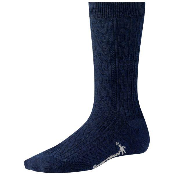 Smartwool Women's Cable Socks Navy Sale $10.17 SKU: 15235369 ID# SW711-6-4 UPC# 605284564295 :
