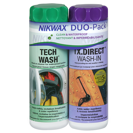 Nikwax Hardshell Clean/Waterproof Twin Pack, 20oz.