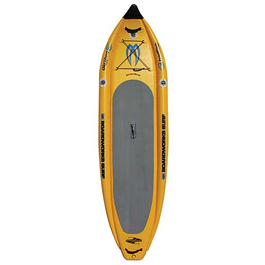Boardworks 11'6 Badfish MCIT Inflatable Stand-Up Paddleboard, Yellow