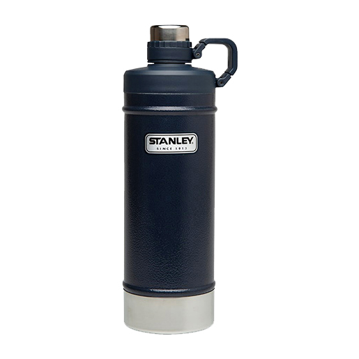 Stanley Classic Vacuum Water Bottle, Hammertone Navy, 21oz.