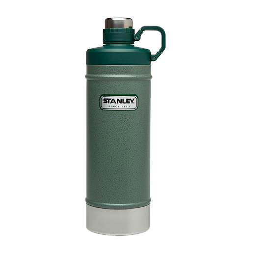 Stanley Classic Vacuum Water Bottle, Hammertone Green, 21oz.