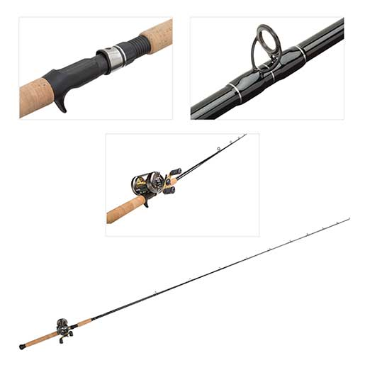 Blacktip Baitcaster CVL-400 Reel with 7' Rod Combo