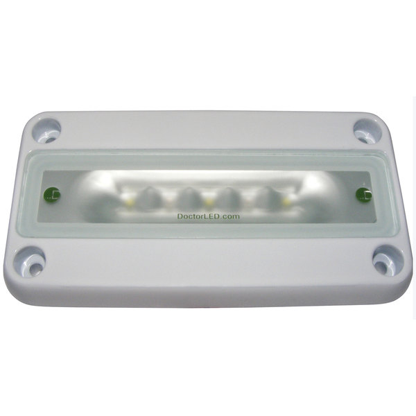Dr. Led Low Profile LED Light, Red/White