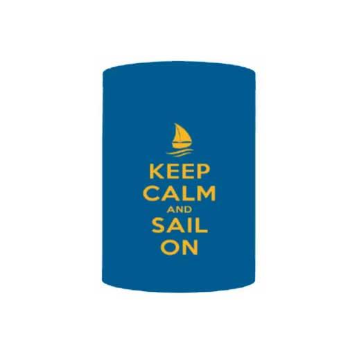 Boatmates Keep Calm And Sail On Drink Koozie Sale $2.48 SKU: 15362379 ID# 22125 UPC# 79035221254 :