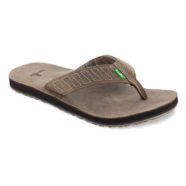 Sanuk Men's Burro Down Flip Flops, Brown, 8 Sale $39.88 SKU: 15377666 ID# SMS10063-BRN-22 UPC# 887278660415 :