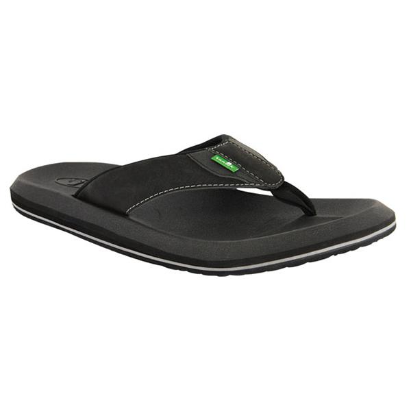 Sanuk Men's Slacker 2 Flip Flops, Black, 13