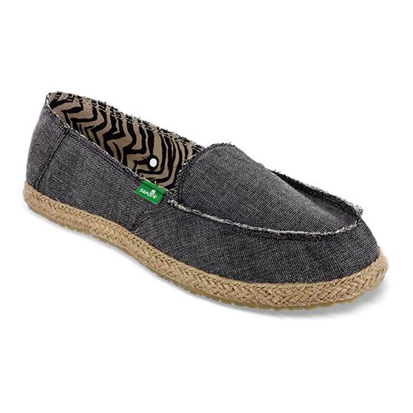 Sanuk Women's Fiona Shoes, Gray, 6 Sale $36.88 SKU: 15378318 ID# SWF10080-CHR-18 UPC# 887278673088 :