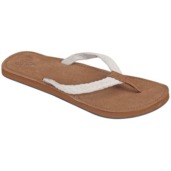 Reef Women's Gypsy Macrame Flip Flops, Cream, 6