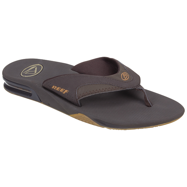 Reef Men's Fanning Flip Flops, Brown, 8