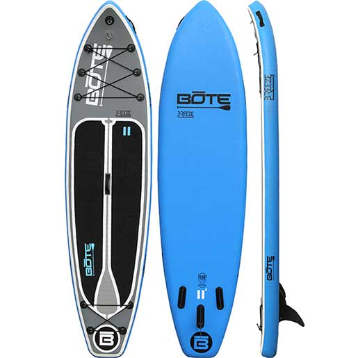 Bote 11 39 breeze inflatable stand up paddleboard west marine for Bote paddle board with motor