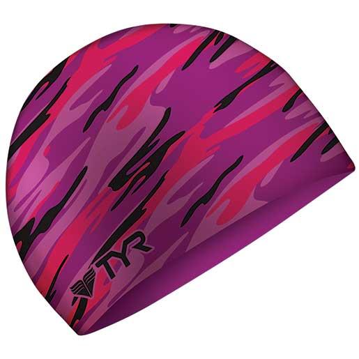 Tyr Sport Swim Cap, Purple Camo