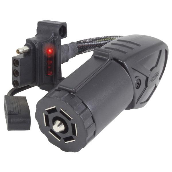 Hopkins Manufacturing Endurance Flex 7-Pin to 4-Pin Trailer Light Adapter