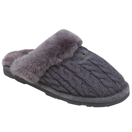 Bear Paw Tackle Womens Effie Slippers Gray