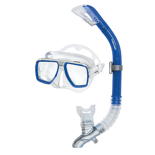 HEAD Tarpon Dry Mask Combo, Blue Sale $39.95 SKU: 15627466 ID# 481210HBBL CL UPC# 792460100825 :
