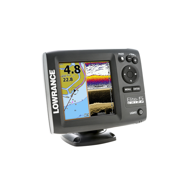 Lowrance Elite-5 CHIRP Fishfinder/Chartplotter without Transducer Sale $349.99 SKU: 15631526 ID# 000-11650-001 UPC# 9420024132135 :
